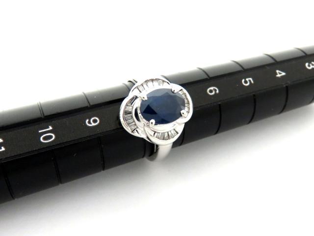 サファイヤプラチナリング 指輪
