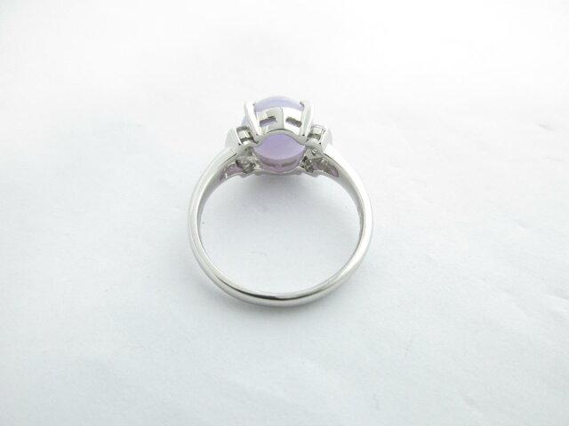 ラベンダーヒスイ ダイヤモンド リング 指輪