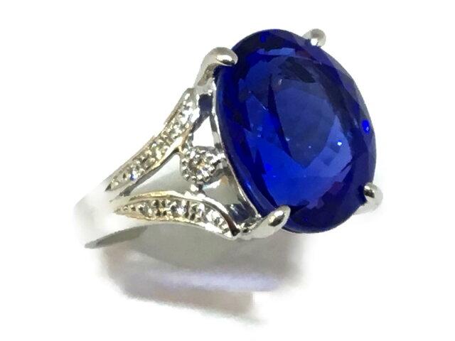 ジュエリー タンザナイト ダイヤモンド リング 指輪