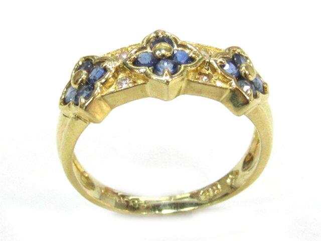 サファイアリング ダイヤモンド 指輪
