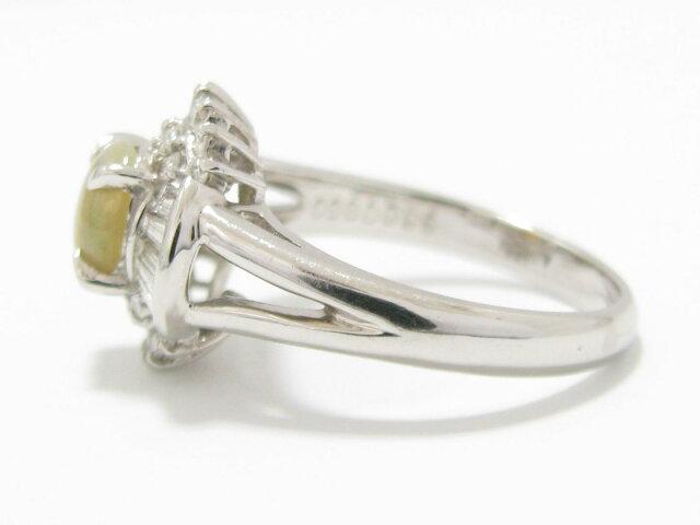 キャッツアイ ダイヤモンド リング 指輪