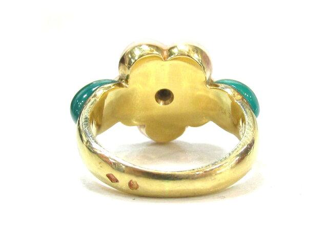 フラワーサンゴ1Pダイヤモンド リング 指輪