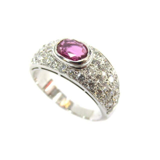 ピンクサファイア/ダイヤリング  指輪