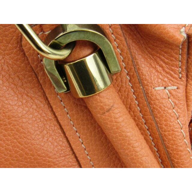 c62f2ec6df33 BRANDOFF: Auth Chloe Paraty 2way 單肩包bag leather 橙色Used Vintage ...