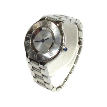 【全品ポイント5倍!要エントリー】 カルティエ マスト21 腕時計 ウォッチ 時計 レディース ステンレススチール (SS) シルバー (W1019T2) 【 中古 】 | Cartier BRANDOFF ブランドオフ ブランド ブランド時計 ブランド腕時計