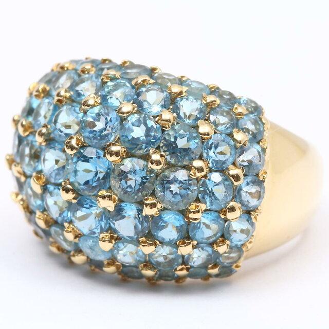 ブルートパーズ ダイヤモンド リング 指輪