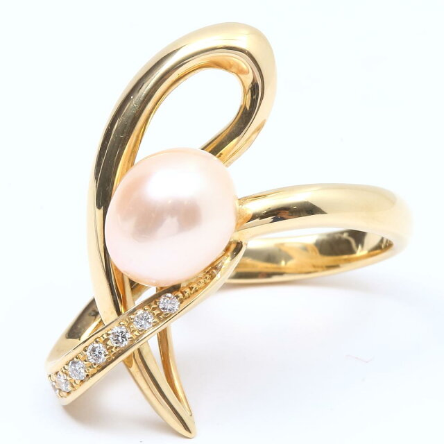 パール ダイヤモンド 指輪 リング