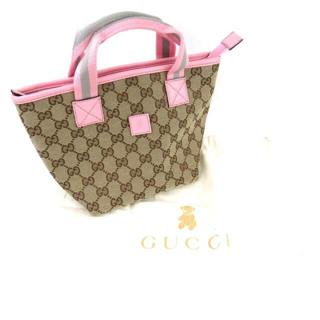 cf95c55cd7b4 BRANDOFF: Gucci GG canvas kids line mini-tote bag bag lady scan bus ...