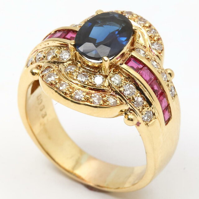 ルビー サファイア ダイヤモンド リング 指輪