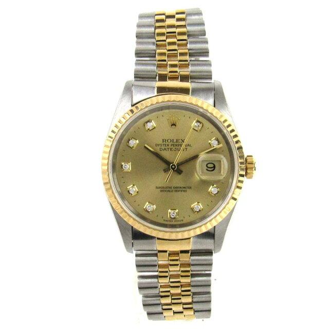 デイトジャスト 10Pダイヤモンド ウォッチ 腕時計