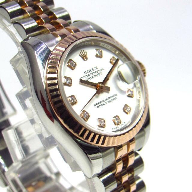 デイトジャスト 10Pダイヤ 時計 ウォッチ