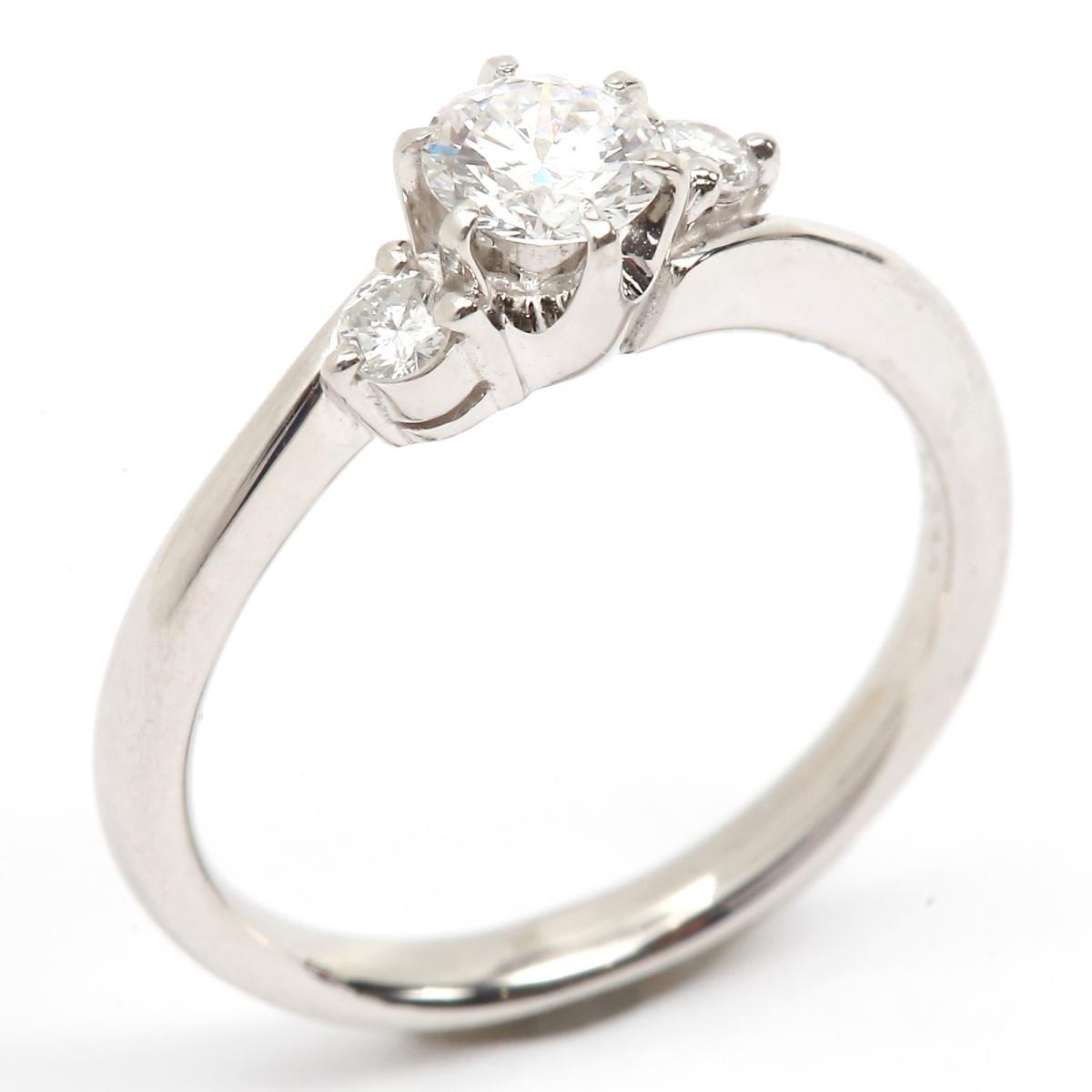 30fc9fc17d (Free shipping) Auth JEWELRY Diamond ring PT 900 Platinum x Diamond (0.303  cc/0.09ct) Used | BRANDOFF Ginza/TOKYO/Japan
