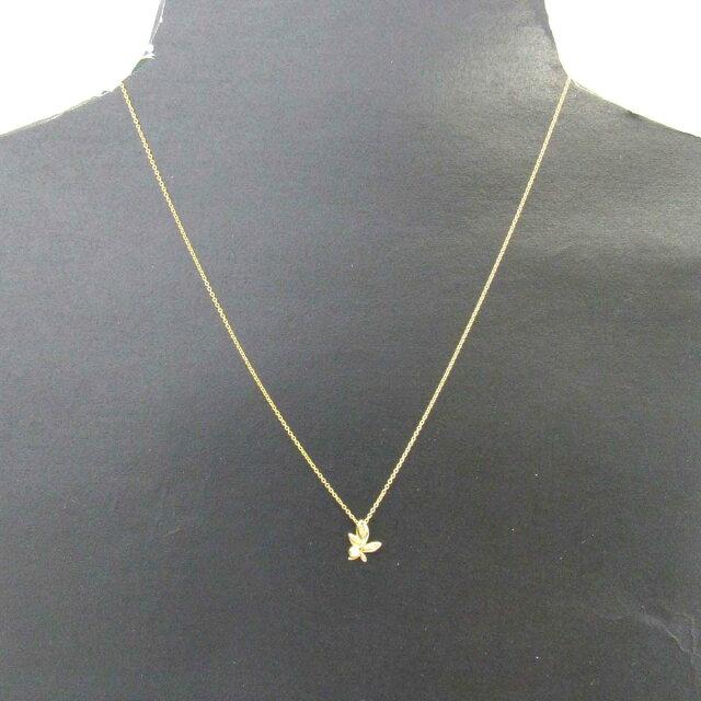 パロマピカソ オリーブリーフ 1Pダイヤモンド ネックレス ペンダント