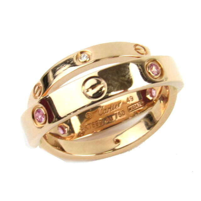 ラブ ピンクサファイア ダイヤモンド リング 指輪