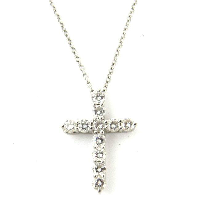 ダイヤモンド クロス ネックレス