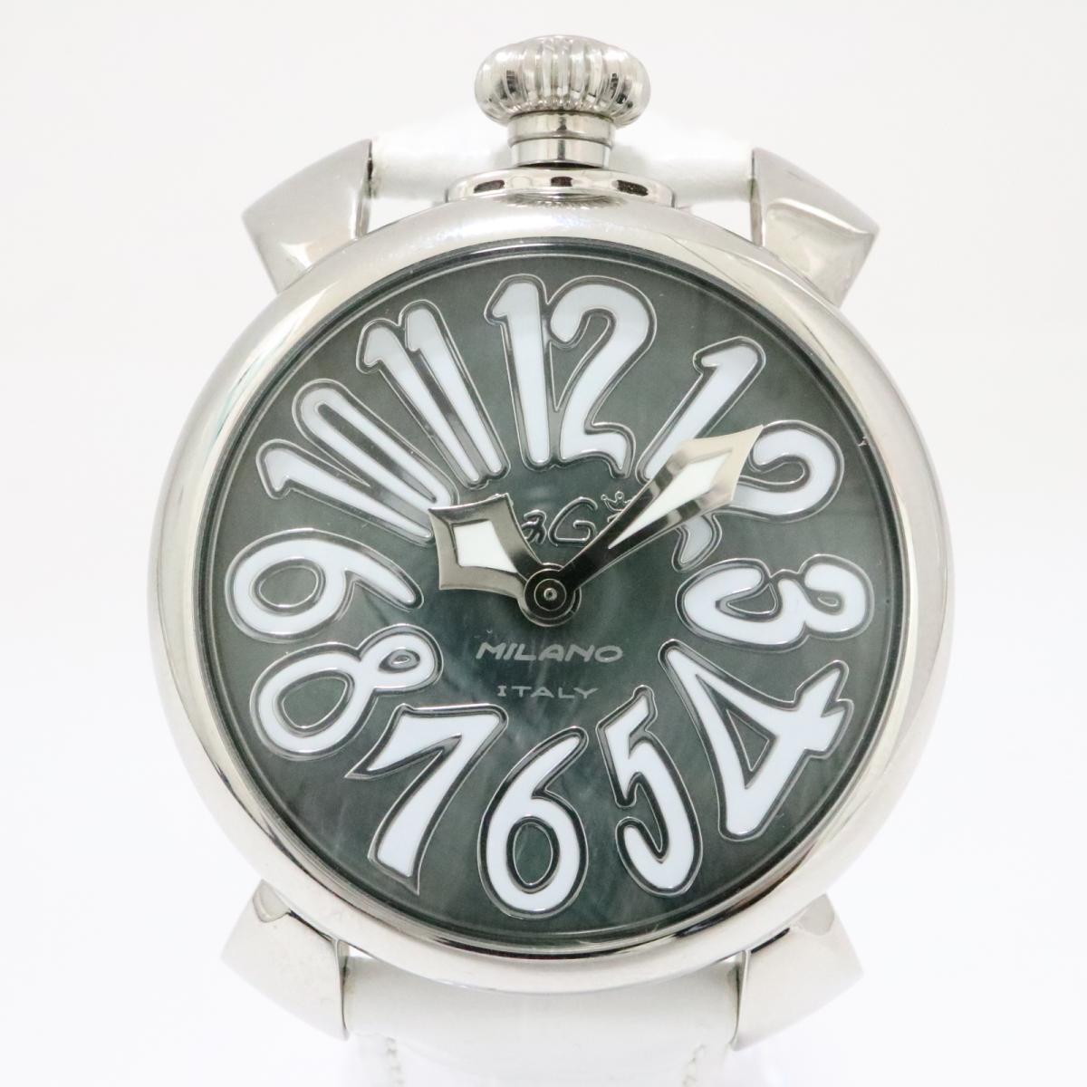 new concept d5d44 55719 中古】ガガミラノ マヌアーレ40 腕時計 時計 レディース ...