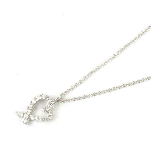 ラビングハート ダイヤモンド ネックレス