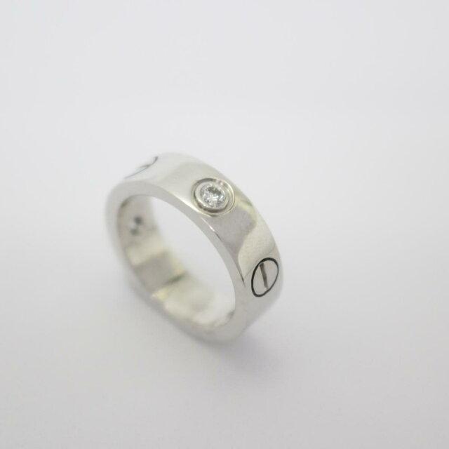 ラブリング ハーフダイヤモンド 指輪