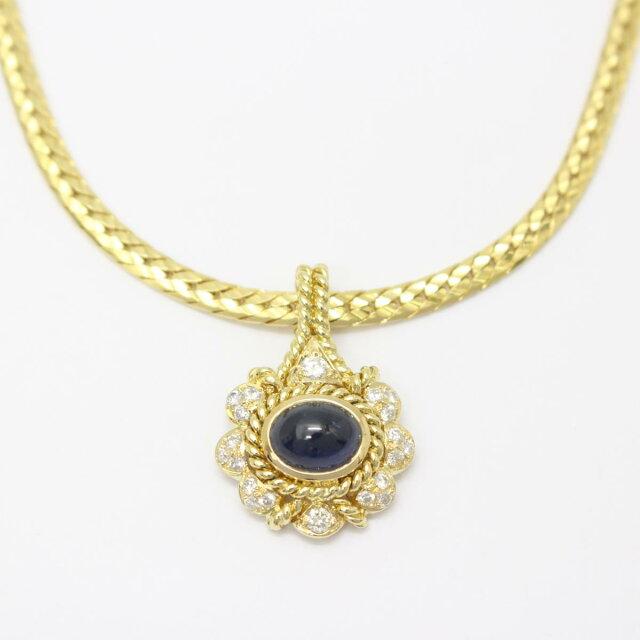 サファイア ダイヤモンド ネックレス