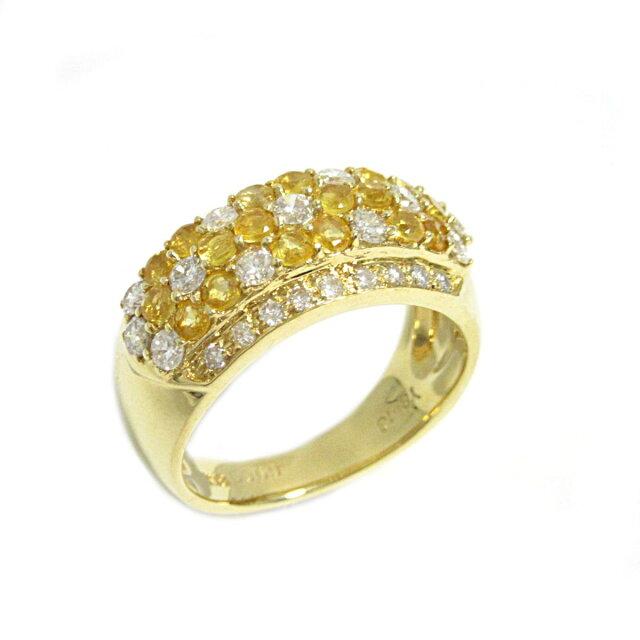 イエローサファイア リング 指輪