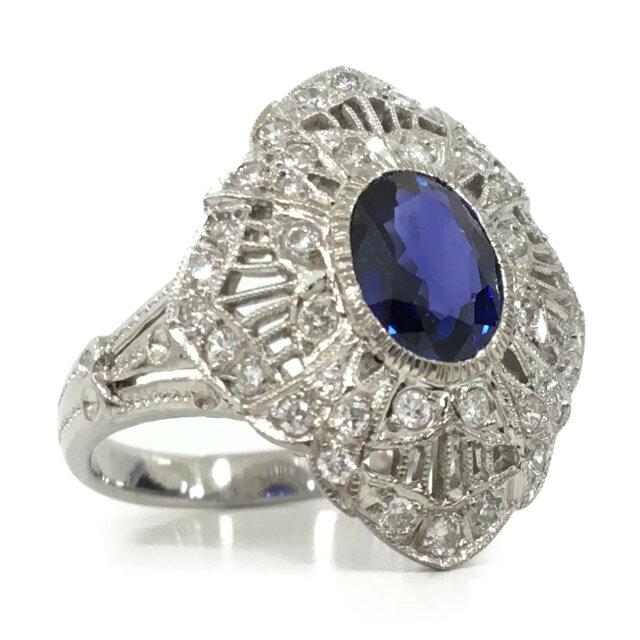 ジュエリー サファイア ダイヤモンド リング 指輪