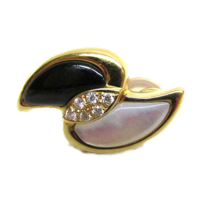 色石 ダイヤモンドイヤリング