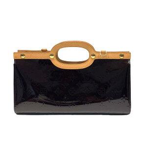 Louis Vuitton Roxbury Drive Двухсторонняя сумка на длинном ремне, женская сумка Verni Amarant (M91995) [Подержанные] | LOUIS VUITTON BRANDOFF Фирменный бренд Vuitton Louis Vuitton Фирменный бренд Сумка Сумка Сумочка Ручная сумка