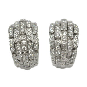 Cartier Diamond Earrings Brand Jewelry Women's K18WG (750) White Gold x [Used] | Cartier BRANDOFF Brand Off Brand Jewelry Accessories