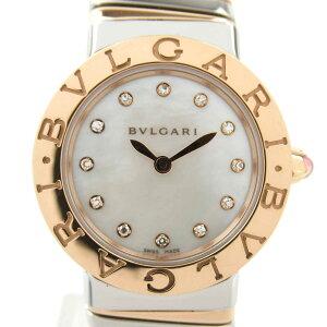 Bvlgari Tubogas 12P Diamond Watch Watch Ladies K18PG (750) Pink Gold x Stainless Steel (BBLP26 2TSG) [Used] | BVLGARI BRANDOFF Brand Off Brand Brand Watch Brand Watch