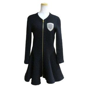 クリスチャン・ディオール コート ドレス ワンピース 衣料品 レディース 83%ウール 17%ポリエステル ネイビー 【中古】 | Dior BRANDOFF ブランドオフ 衣類 ブランド