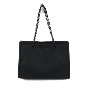 Prada BAG尼龙链手提袋女士黑色(1BG2682CJWF0ES9)| PRADA BRANDOFF品牌OFF品牌品牌手提袋Back Tote Bag手提袋