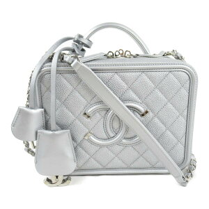 Chanel Caviar Skin Chain Shoulder Bag Bag Ladies Silver [Used] | CHANEL BRANDOFF Brand Off Brand Brand Bag Back Handbag Handbag Hand