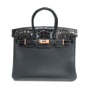 Hermes Birkin Touch 25手提包女士Taurillon Beyo x Nirotika Shine Black(金属配件:玫瑰金)  Pinkoi 牌