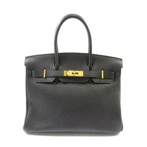 爱马仕Birkin 30手提包女士多哥黑色(金属配件:金)[二手]   HERMES BRANDOFF品牌OFF品牌品牌手提包Back手提包Hand