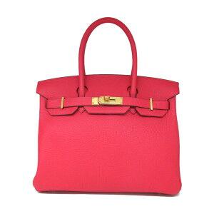 爱马仕Birkin 30手提包女士Taurillon Clemence Rose Extreme(金属配件:金)  Pinkoi HERMES BRANDOFF品牌OFF品牌品牌手提包Back手提包Hand