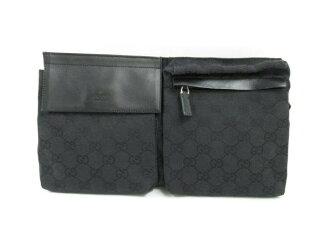 GUCCI (Gucci) / waist porch / porch (handle and) / system / Black Black / canvas / (28566-200047) [BRANDOFF / brand off].