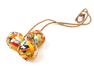 HERMES (Hermes) / bag charm sweets and other / Brown / multicolor/silk x leather / [BRANDOFF / brand off]
