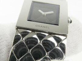 CHANEL(シャネル)/マトラッセ腕時計ウォッチ/クオーツ/ブラック/ステンレススチール(SS)/【ランクA】(H0009)[BRANDOFF/ブランドオフ]【】