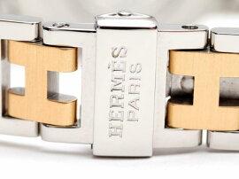 HERMES(エルメス)/クリッパーオーバル腕時計ウォッチ/クオーツ/ブラック/ステンレススチール(SS)/【ランクA】(CO1.220)[BRANDOFF/ブランドオフ]【】