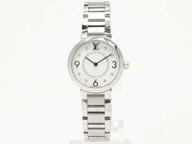 LOUISVUITTON(ルイヴィトン)/タンブールモノグラムPM腕時計ウォッチ/クオーツ/シルバー/ステンレススチール(SS)×ダイヤモンド(8P)/【ランクA】(Q12MG4)[BRANDOFF/ブランドオフ]【】