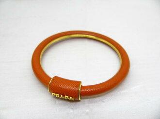 普拉達 (Prada) 和手鐲手鏈 / 手鐲真皮橙色 / 牛皮 (小腿) 和 [布蘭多夫 / 品牌關閉]