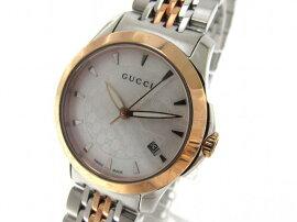 GUCCI(グッチ)/Gタイムレス腕時計ウォッチ/クオーツ/ホワイト/ステンレススチール(SS)メッキ/【新品】(YA126537)[BRANDOFF/ブランドオフ]【新品】