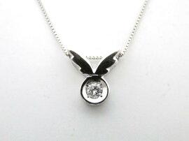 JEWELRY(ジュエリー)/ダイヤモンドネックレス/ネックレス/PT900プラチナ×PT850プラチナ×ダイヤモンド(D0.09ct)/【ランクA】[BRANDOFF/ブランドオフ]【】