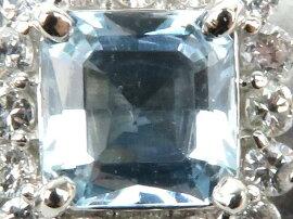 JEWELRY(ジュエリー)/アクアマリンダイヤモンドリング指輪/リング/PT850プラチナxアクアマリン0.80ctxダイヤモンド0.36ct/【ランクS】/11.5号[BRANDOFF/ブランドオフ]【】