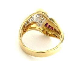 JEWELRY(ジュエリー)/ルビーダイヤモンドリング指輪/リング/K18YG(750)イエローゴールドxダイヤモンド0.80ct/0.21ct/【新品】/12.5号[BRANDOFF/ブランドオフ]【新品】