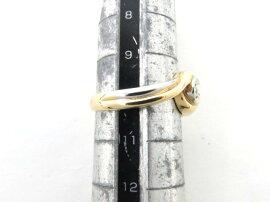 JEWELRY(ジュエリー)/一粒ダイヤモンドリング指輪/リング/PT900プラチナxK18x一粒ダイヤモンド(0.08ct)/【ランクA】/10号[BRANDOFF/ブランドオフ]【】