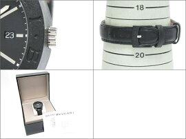 BVLGARI(ブルガリ)/ブルガリブルガリカーボンゴールド腕時計ウォッチ/オートマチック/ブラック/カーボンxレザーベルト/【ランクA】(BB40CL)[BRANDOFF/ブランドオフ]【】