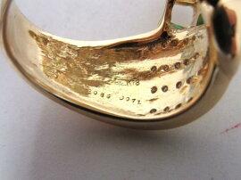 JEWELRY(ジュエリー)/エメラルドダイヤモンドリング指輪/リング/グリーン/K18YG(750)イエローゴールド×エメラルド0.86ct×ダイヤモンド0.71ct/【ランクA】/21号[BRANDOFF/ブランドオフ]【】