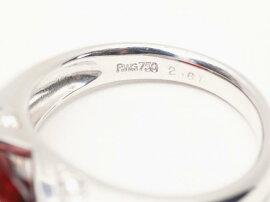 JEWELRY(ジュエリー)/ロードライトガーネットダイヤモンドリング指輪/リング/K18WG(750)ホワイトゴールドxロードライトガーネット(2.61ct)xダイヤモンド(0.15ct)/【ランクA】/11号[BRANDOFF/ブランドオフ]【】