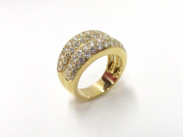 ダブルミミ ダイヤモンドリング 指輪
